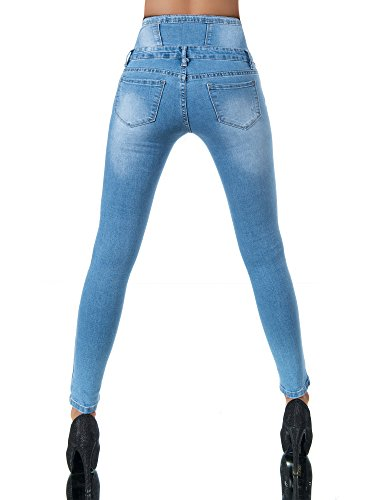Azul Skinny Diva Vaqueros jeans Mujer Básico Para WqqSgaT8