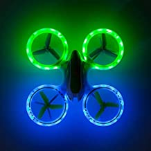 Mini Drones for Beginners and Kids – UFO 3000 LED Lighted Drone Remote Control Helicopter Light Up Toys for Boys and Girls w/Extra UFO Drone Battery