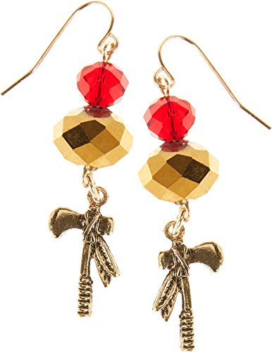 Florida State Red & Gold Tone Tomahawk Drop Earrings One Size Red/gold (Tomahawk Earrings)