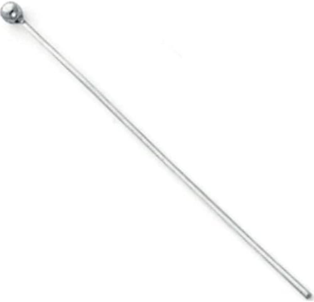 Sterling Silver 22GA Round Headpin 1.5