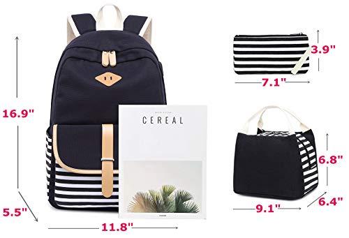 Pour Portable Cartable Rayé Backpack Toile 15 Canvas 6' Sac À Fille Netchain Folk Collège Dos Ordinateur Femmes Y6xUH7qf