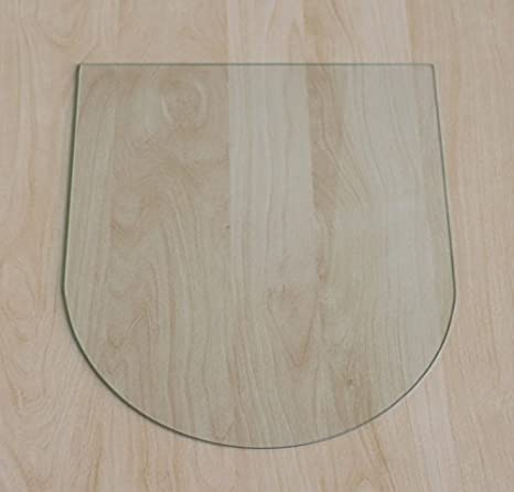 Rundbogen 100x100cm - Funkenschutzplatte Kaminbodenplatte Glasplatte f. Ofen Kaminofenunterlage (Rundbogen 100x100cm mit Silikon-Dichtung) ecofoxx
