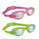 Aegend Swim Goggles 2 Pack Swimming Goggles