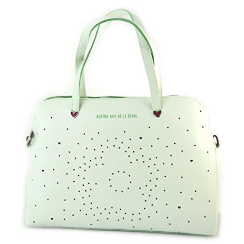 ('french touch' bag 'Agatha Ruiz De La Prada'green water - perforated hearts.)