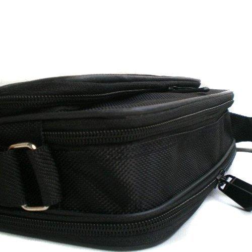 Hombres de bolso bandolera Messenger Bag Negro