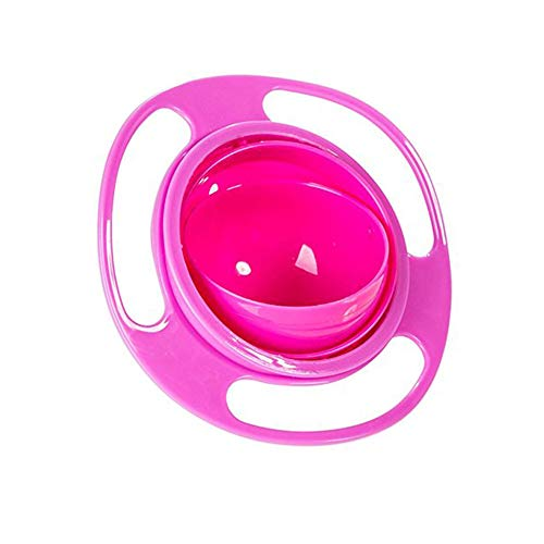 Baby Gyro Bowl Funny 360 Degree Rotate Spill-Proof Bowl with Lid Feeding Without Mess Toy for Toddler Baby Kids Children,Color - Tableware Toys Bowls Kids