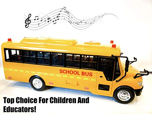- Big Daddy Huge Yellow School Bus with Lights and Cool Openable Doors Pull Back Toy School Bus with Sounds and Songs for Girls, Boys, Toddlers