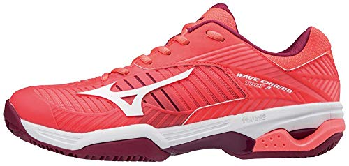 3cc Tour beetred fierycoral Exceed white Zapatillas Mujer Para 001 Mizuno Multicolor Wave wTEZvqTt