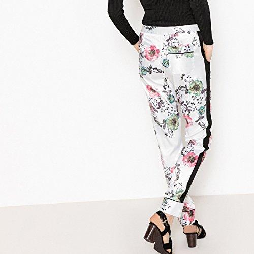 La Fondo Vita Collections Pantaloni Fantasia A Alta Écru Redoute Fiori Donna Larghi rX74wrvn