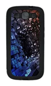 The 3D Tunnel Space The Box Custom Design Samsung Galaxy S3 Case Cover - TPU - Black