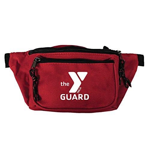 Rise Aquatics Standard YMCA Guard 3-Pocket Hip Pack in Red