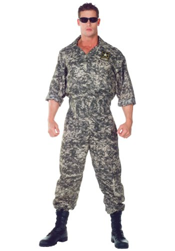[Army Jumpsuit , color as Shown, Standard size] (Army Men Halloween Costumes)
