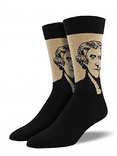 Socksmith-Mens-Novelty-Crew-Socks-Jefferson-1-pair-Hemp