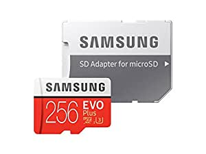 Samsung 256GB EVO Plus Class 10 UHS-I microSDXC U3 with Adapter (MB-MC256GA/AM) Read:up to 100MB/s,Write:up to 90MB/s