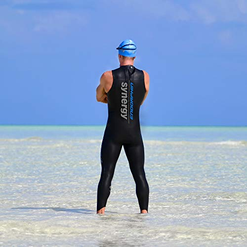 5d6ebdb8586 Synergy Triathlon Wetsuit 5/3mm - Men's Endorphin Long John Sleeveless  Smoothskin Neoprene for Open Water Swimming Ironman & USAT Approved