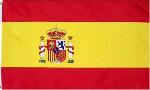 DANF Spain Flag 3ftx5ft Spainish National Flags Polyester with Brass Grommets 3x5 Foot Flag]()