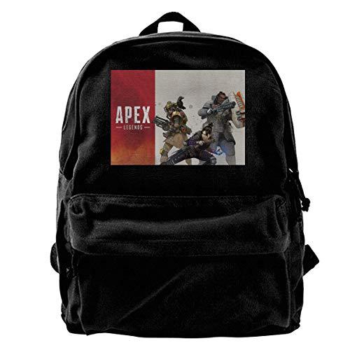 Icon Squad Backpack - Canvas Backpack Apex Legends Squads Rucksack Gym Hiking Laptop Shoulder Bag Daypack For Men Women
