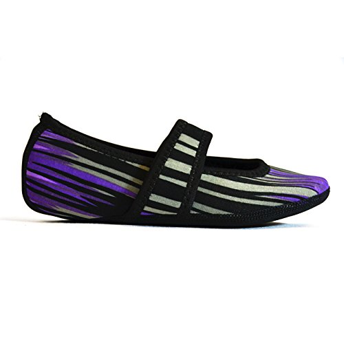 in Nufoot Pantofola Aurora Purple Shoes Neoprene Lou donna Betsy motivo vgawtgUq