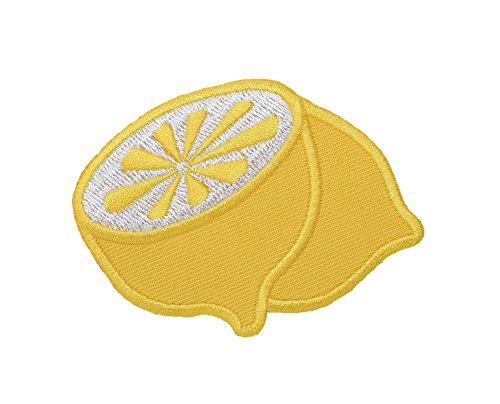Wholesale Applique Yellow Lemon - Citrus/Fruit/Food Half/Halved - Iron on Applique/Embroidered Patch ()