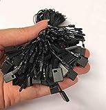 """Hang Tag String Black String for Tags 7"""" 1000 Pcs"""