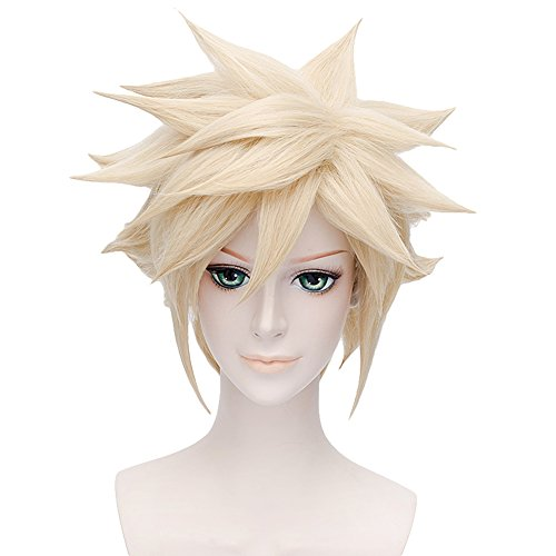 Cosplay Costume Wig for Final Fantasy VII Cloud Strife Short Anime Hair Blonde -