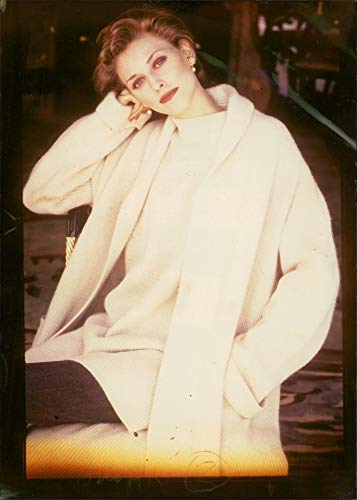 Vintage photo of Lambswool/angora, long ribbed -