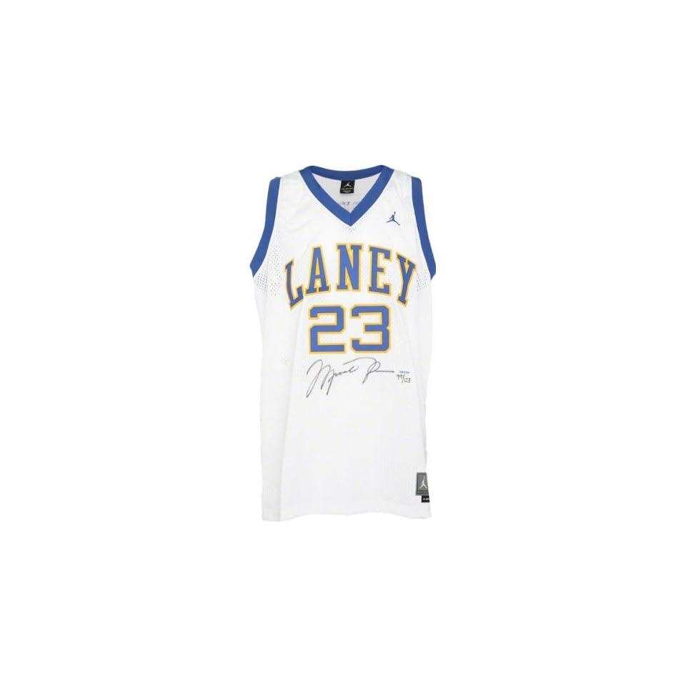 Michael Jordan Autographed Jersey  Details Laney High School, 80 81