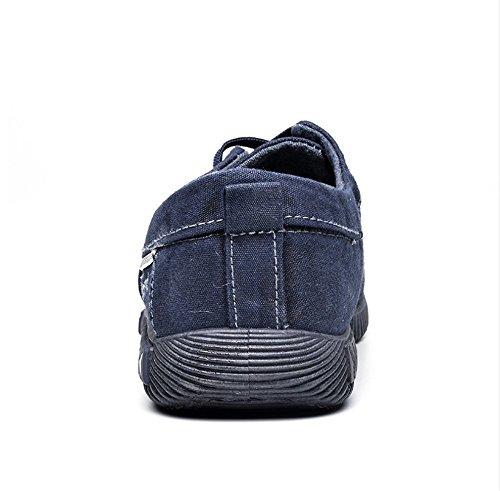 Snøre Utendørs Blå Menns 10 På Pluss Lerret Sko Uformelle Loafers Walking Joggesko Oxfords Komfortable Pustende Størrelse w1IqB