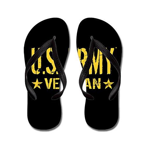 Cafepress Us Army: Veteraan (gouden Sterren) - Flip Flops, Grappige String Sandalen, Strand Sandalen Zwart