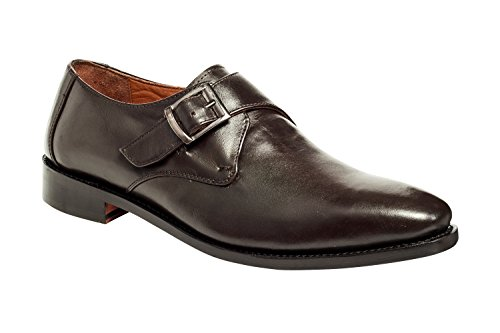 Anthony Veer Mens Roosevelt Oxford Single Monk Strap Leather Shoe In Goodyear Welted Construction … (11.5 D, Brown) by Anthony Veer