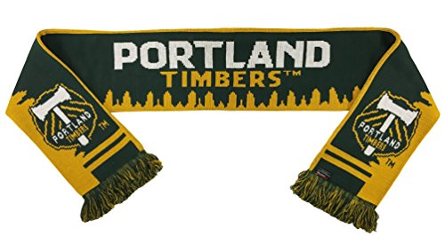 Cut Scarf - MLS Portland Timbers Crosscut Saw Scarf, Green, One Size