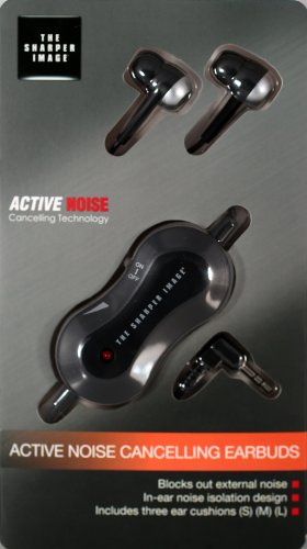 The Sharper Image Active Noise Cancelling Earbuds