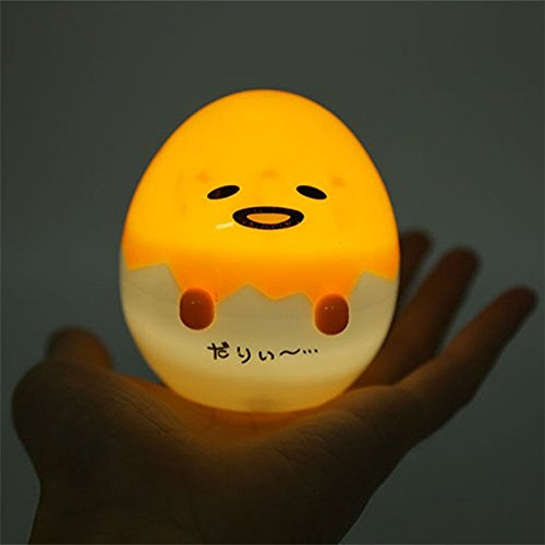 HKH 3' Cartoon Gudetama Lazy Egg Mini Lamp Kawaii Night Light Home Decor Gift