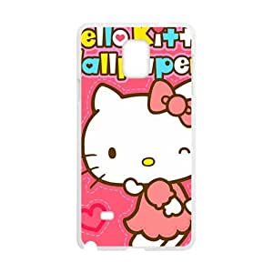 Happy Hello kitty Phone Case for samsung galaxy note4 Case