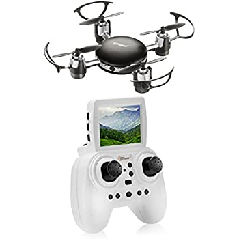 Top Race RC Mini SPY Drone with HD Camera Live Video, 2.4 Ghz, Mini FPV Drone with LCD Screen – TR-MQ8