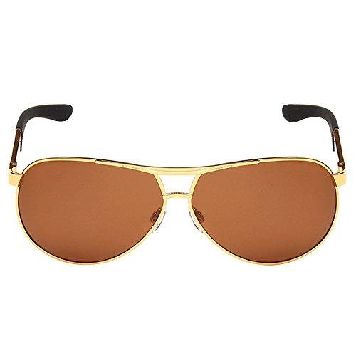 soleil Homme Lens Golden Frame noir de noir Tea unique Taille Sanwood Lunettes qgwCEE