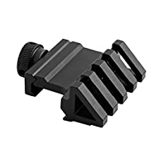 45-Degree Offset Rail Mount Picatinny Weaver Style With 4 Slot For Mounting Or Red Dot Sight