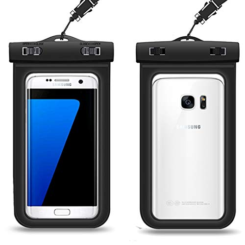 Premium Waterproof Phone Case with Lanyard Universal Dry Bag Pouch Compatible for iPhone X/8/7/7 Plus/6S/6/5S Plus/SE Android Samsung GalaxyS9/S8/S7/S5Plus Edge/Note87654 Pixel 2 HTC Sony Moto Black