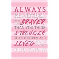"Always Remember You Are Braver Than You Think, Stronger Than You Seem and Loved More Than You Know: Monthly/Weekly Planner with Inspirational Quotes (5""x8"")"