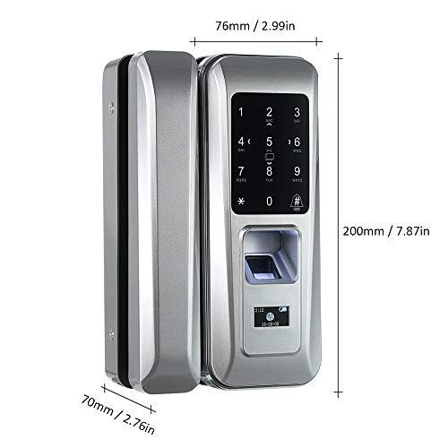 Walmeck Fingerprint & Touchscreen Smart Lock Digital Lock for Double Open Glass Door Fingerprint Lock Electronic Keyless Touch-screen Door Lock Fingerprint Door Lock for Glass Door by Walmeck (Image #3)