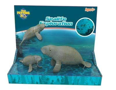 The Petting Zoo Sealife Exploration Toy Set (Manatee Family)