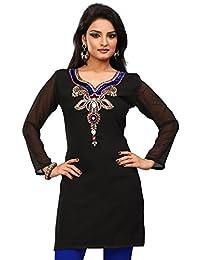 Designer Long India Tunic Top Womens Kurti Party Dress Blouse Indian Clothing