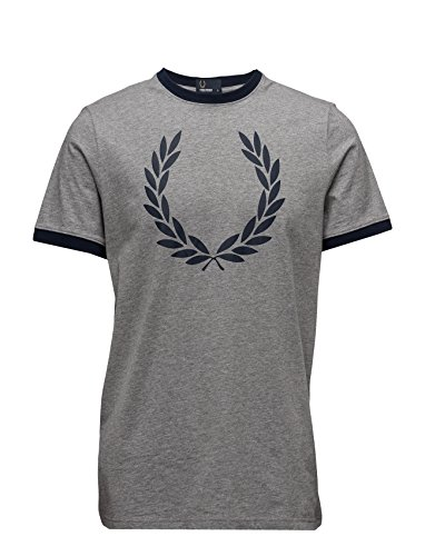 Fred Perry Laurel Wreath Ringer Tee shirt Steel Marl, T-shirt