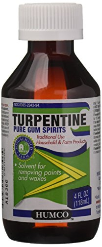 Price comparison product image TURPENTINE Gum Spirits Humco Alcohol, 4 Fluid Ounce