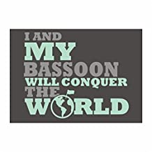 Idakoos - I and my Bassoon will conquer the world - Instruments - Sticker Pack x4
