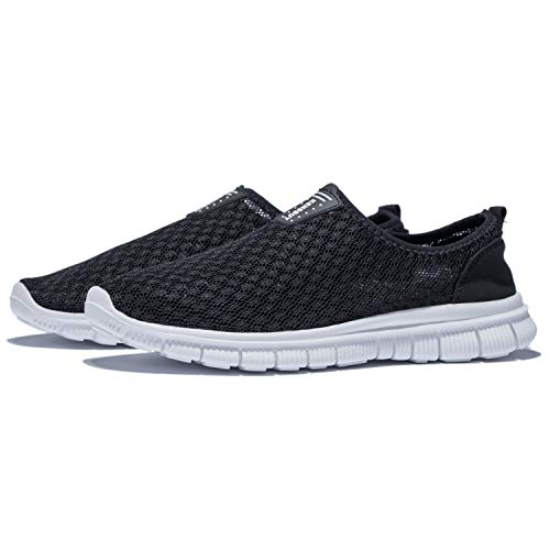 KENSBUY Mens Breathable Durable Sports Running Shoes Lightweight Mesh Walking Sneakers EU41 Black by KENSBUY (Image #7)