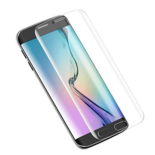 S6 Edge Plus Screen Protector,Dokpav Ultra Slim Samsung Galaxy S6 Edge Plus Tempered Glass Full Screen Protector, Protective Film Anti-scratch Anti-fingerprint - Transparent
