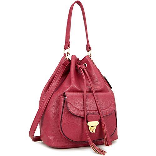 dasein-front-pocket-convertible-backpack-drawstring-bag