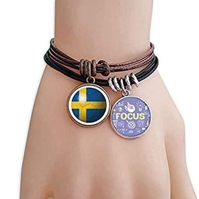 master DIY Sweden National Flag Soccer Football Bracelet Rope Wristband Force Handcrafted Jewelry Estimated Price -