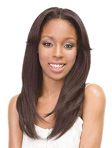 (Janet Collection Retro Glam & Vibe Clip-In U-TYPE Wig - 1B STRAIGHT (OET1B/BURG/99J) )